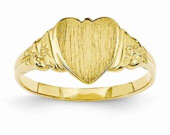 Heart Signet Ring (JC-1103)