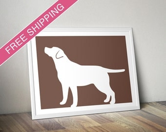 Labrador Retriever Print (version 3) - Labrador Retriever Silhouette, Labrador art, dog portrait, modern dog home decor