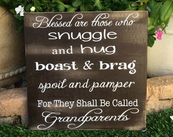 Grandma Gift Grandpa Gift Grandparents Quote Personalized Gifts Blessed are Grandparents Christmas Gift Grandparents Gift Personalized Sign