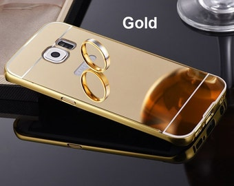 Metal mirror case for samsung S7 Edge curved, NEW Luxury  Ultra-thin Mirror Case Cover for Samsung S7 edge,