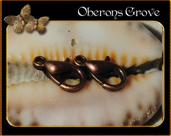 50 lobster clasps copper 5,5x10mm