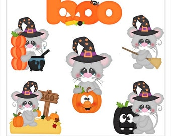 DIGITAL SCRAPBOOKING CLIPART - Halloween Mice - Exclusive