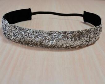 Non-Slip Headband - Glitter, Silver