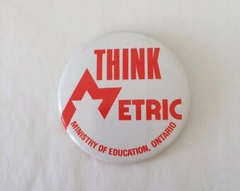 VINTAGE Think Metric - Ministry of Education, Ontario