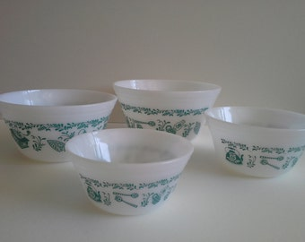 Vintage Federal Glass Mixing Bowls, 4.