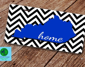 Kentucky State Home Car Tag. Kentucky Home License Plate. Custom Llicense Plate.