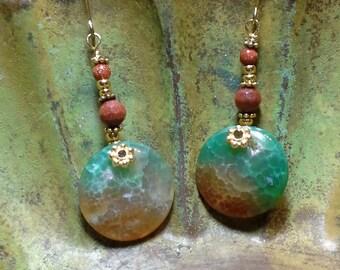 Agate Druzy Earrings