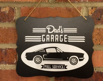 Dad's Garage Sign | Chalkboard Sign | Father's Day Gift | Garage Decor | Man Cave Decor | Garage Sign | Man Cave Sign