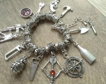 ZOMBIE APOCALYPSE Charm Bracelet - Horror Bracelet, BEAD Charm Bracelet