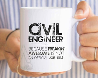 Gifts for civil engineers, engineer mug, engineer graduation, gift ideas for engineering students, funny engineering gifts, retirement MU347