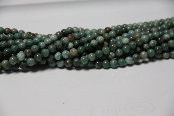 "Dragon Blood Jasper 8mm smooth round beads 16"" length full strand"