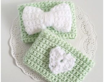 Coffee Cozy | Mint Green and White