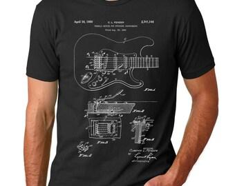 Fender Guitar Tremolo Patent T-shirt, Electric Guitar, Whammy Bar, Fender Shirt, Guitar Art T Shirt, PP0046