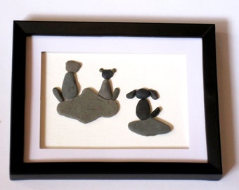 ... Pebble Art Framed Shadow Box Animal Picture Cat | Dog Breeds Picture