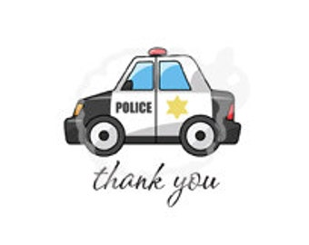 Thank You Cards for Police Officers