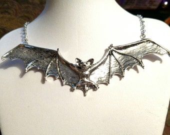 Sculpted Vampire Bat Necklace