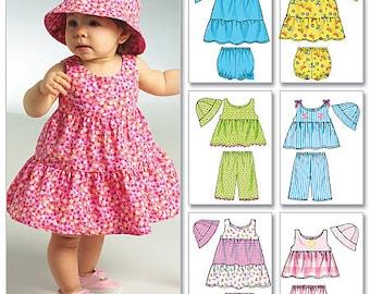 B5017 Butterick Infants' Top, Dress, Panties, Shorts, Pants and Hat Infant Wardrobe Pattern