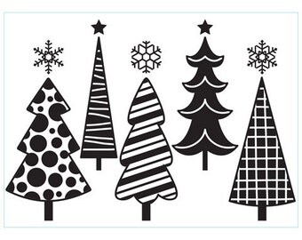 Darice® Embossing Folder - Fun Christmas Trees - 4.25 x 5.75 inches, scrapbooking, card making, greeting cards, invitations and more