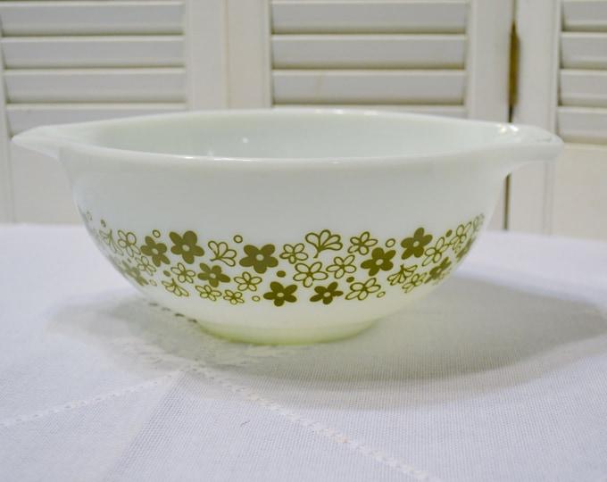 Vintage Pyrex Mixing Bowl Spring Blossom Crazy Daisy 443 2 1/2 Quart Cinderella Handle Nesting Bowl PanchosPorch
