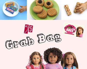 American Girl Doll Food Snacks Grab Bag Surprise Pack Party Favor Random Selection Items FIVE DOLLARS - 18 Inch Doll Accessories