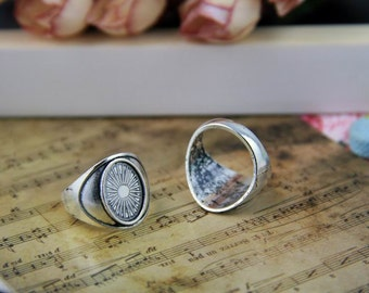Ring blanks supplies vintage style oval 14*10mm DIY rings creations, rings design findings antique bronze vintage silver available No.A2713