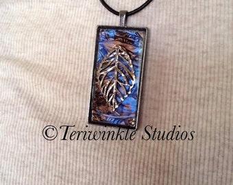 Midnight Leaf - Mosaic Necklace