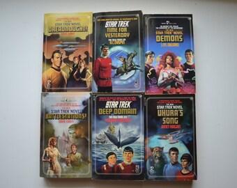 Six Vintage 1980's Star Trek Novels