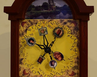 Customized Wood Weasley Family Clock From Harry Potter