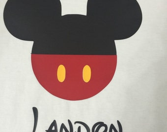 Monogrammed Mickey Mouse tshirt