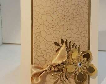 Gold and cream card