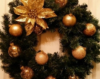 Christmas Wreath, Winter Wreath, Ornament Wreath