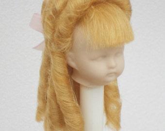 doll wig mohair antique german doll handmade doll wig cabinet size vintage doll victorian bjd doll wig ringlet doll wig sundaybestdolls