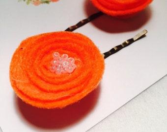 Boho Floral Bobby Pins