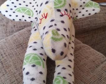 Lemon & Lime Sock Elephant