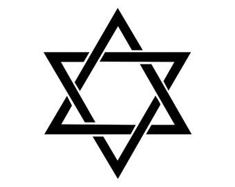 Star of David Decal.  Jewish and Israeli Symbol, Star of David Sticker Bumper Sticker.  Shield of David Sticker