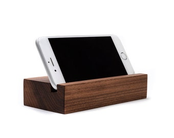 iPhone 6 Stand / iPhone 6S Docking Station / iPhone 7 / Black Walnut