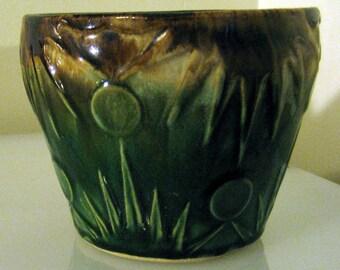 Robinson Ransbotton Sun Jardiniere 1400-6 Roseville Mint Condition 1920s Made in Ohio, USA
