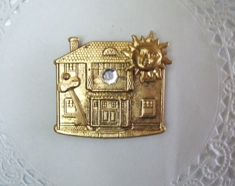Realtor magnet (664) - Jeweled Magnet - Realtor gift - home buyer gift - housewarming gift - recycled jewelry