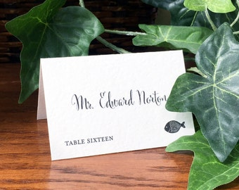 Wedding Place Cards with meal choice, Escort Cards Weddings with food icons, Rustic Place Cards, Folded place cards, Printed Place Cards