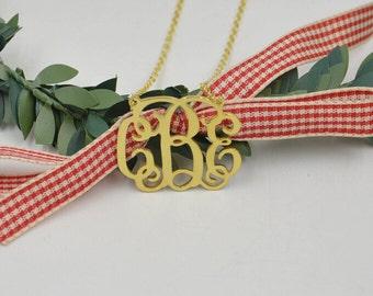 Initials necklace,Monogram Necklace ,custom Monogram Necklace,Personalized Necklace,925 Sterling Silver Monogram Necklace,any three Initials