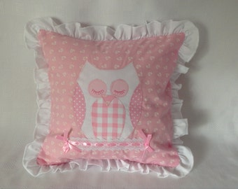 Appliqued Owl Cushion Cover