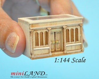 Landygo store roombox for dollhouse assembly unfinished unpainted 1:144 miniature house for 1/12 rooms Top Quality