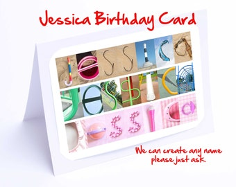 Jessica Personalised Birthday Card
