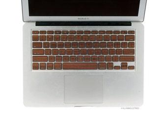 MacBook Wood Keyboard Skin Decal Real Wood Macbook Walnut Keyboard Skin MacBook Air 11 13 Pro 13 15 Retina 13 15