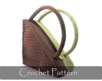CROCHET PATTERN - Crochet Pattern Bag Pattern Unique Triangle Bag Crochet Purse Patterns Unusual Purses and Bags - P0004