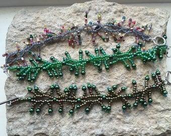 Seaweed bead bracelet, your choice of colour etc