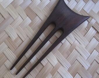 Wood Hair Stick, Wood Hair Pin, 3 Prongs Wooden Hair Fork,  Hair Accessories 10-130616