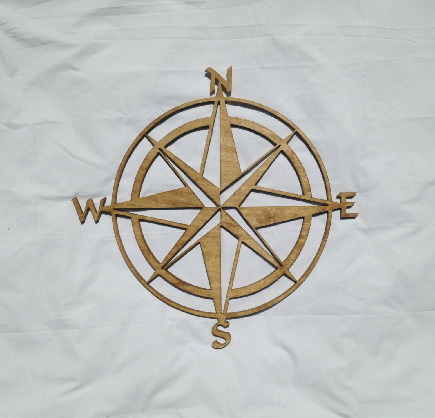 stained wooden nautical compass wall hanging wall