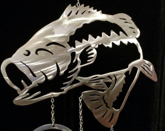 Large Mouth Bass Wind Chime