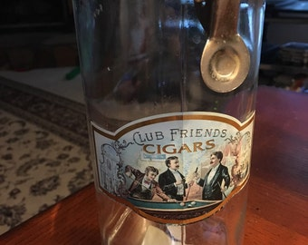 "1886 Schmidt & Co ""Club Friends"" Cigar Glass Jar"